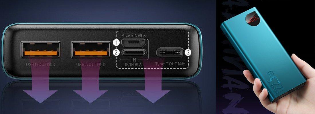 Baseus Adaman 22.5W 20.000 mAh Dijital Ekranlı Powerbank